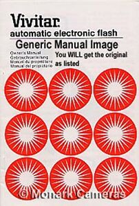 Vivitar 273 Flash Unit Instruction Book, More Manuals & Guides Listed