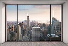 No Tejida Fondo de pantalla gigante 368x248cm Nueva York Penthouse Dormitorio Decoración Mural de Pared