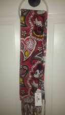 NEW Disney World Parks Minnie Mouse Paisley Women's Red Yellow Fashion Scarf