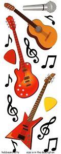 GUITARS & MUSIC NOTES Jolee's Boutique 3-D Stickers  Microphone Guitar Plectrum