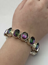 925 sterling silver Handmade Topaz Bracelet