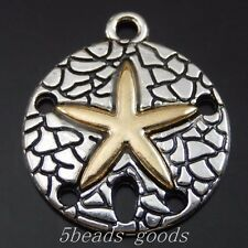 29pcs Antiqued Silver Alloy Gold See Star Round Pendant Charms 22*19*2mm 50080