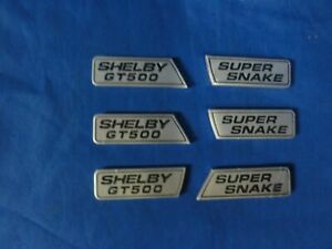 Rare Ford Mustang Super Snake Shelby GT500 Complete Emblem Wing 6 piece Set