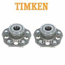For Pair Set of 2 Rear Wheel Bearings & Hub Assemblies Timken for Prelude 97-01