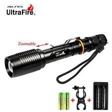 Ultrafire 8000 LM CRIE T6 LED lampe de poche Zoom lampe torche vélo +chargeur AT