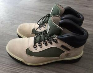 Timberland Men's Field Boot Size 10 Biege Green Shoe