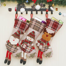 Christmas Stockings Santa Reindeer Snowman Tree Fireplace Decoration Ornaments