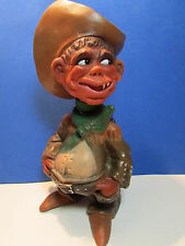 "Cowboy Joe - 9 1/2"" German Rakso Troll Doll - Rare"