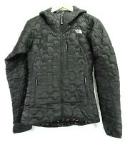 The North Face Womens Black Summit Thermoball Hooded Puffer Hoodie Jacket XS