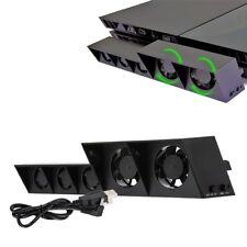 PS4 Kühlung Lüfter Externe 5 Lüfter Super Turbo Temperatur Kühler Steuern DE Neu