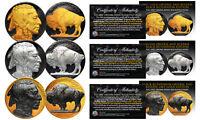 1930's Genuine Indian Head Buffalo Nickel *Full Dates* BLACK RUTHENIUM Set of 3
