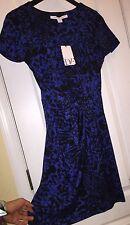 NWT $400 DVF Diane Von Furstenberg Leaf Vine Cornflower Zoe Wrap Dress Women's 4