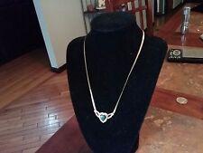 14k gold black heart stone and diamond accent pendant