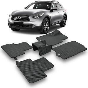 EVA Car Floor Mats Heavy Duty All Weather Odorless For Infiniti QX70 (S51) 13-17