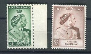 British Honduras KGVI 1948 Royal Silver Wedding set SG164/5 MNH