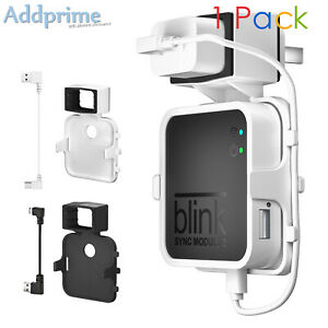 Wall Mount Holder Router Guard for Blink Sync Module 2 Gen with Charging Cable