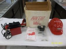Nite Lite Helmet And Battery Light, Hunting, Caving, Camping , ECT.