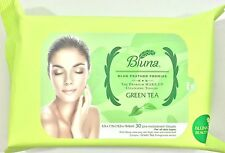 Bluna Make Up Remover Cleansing facial Wipes Face Towelettes Green Tea extract