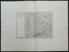 Carte militaire GOUVION SAINT-CYR 1836 DRESDE Dresden Dohna Dippoldiswalde 16