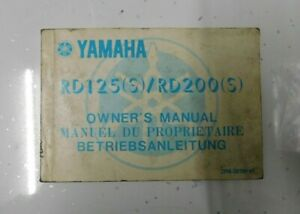 YAMAHA RD 125/200 OWNERS MANUAL