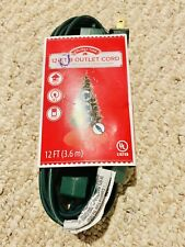 🎄Holiday Time 12-Ft 9 Outlet Cord w/ Hand or Foot Press On/Off Switch Brand New