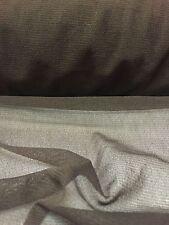 Brown Power Mesh Net 2 Way Stretch Sheer Lycra Fabric Material 160CM Width