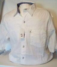 NEW Bob Timberlake Men's Short Sleeve Button Front Shirt Size Medium