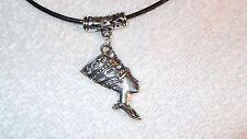 Nefertiti Charm Necklace Jewelry Pendant Leather Accessory Fashion