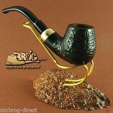 """Mr.Brog original smoking pipe nr 22 black carved """" BENT STECKER """" HAND MADE"""