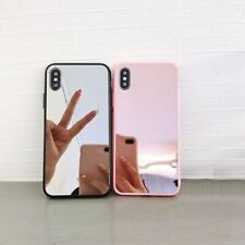 Bumper Slim Case Pink Cute Clear Girly Mirror Back Protective Covers For iPhone