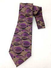 Vintage 1970's Kipper Necktie Necktie Wide Neck Tie Purple Brown Circles Retro