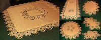 Tischdecke Tischläufer SPITZE APRICOT Deckchen Mitteldecke VIELE GRÖßEN **Serie