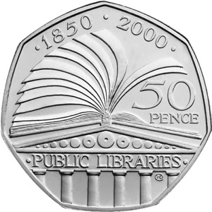 2000 50p Coin Public Libraries Fifty Pence Coin {FREE DELIVERY}