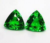 Natural Certified Trillion 8 to 10 Cts Tsavorite Garnet Loose Gemstone's Pair