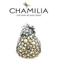 CHAMILIA 925 silver Swarovski 12 days of Christmas charm PARTRIDGE IN PEAR TREE