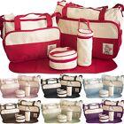5pcs Baby Nappy Changing Bag Set Diaper Bags Shoulder Handbag Mommy Bag Travel