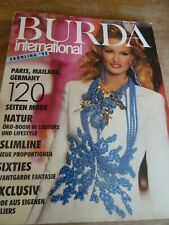 MAGAZINE BURDA INTERNATIONAL  PRINTEMPS  93 EDITE EN ALLEMAND