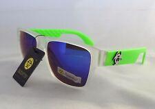 BioHazard Optics Sunglasses GREEN & CLEAR & Mirror Lens Unisex Men's New Shades