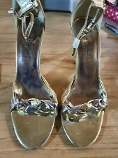 BN Size 6 Anne Michelle Shoes With Ankle Strap Gold / Silver