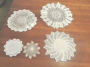 Collection of 31hand crochet doilies