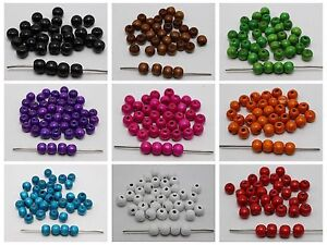 200 10mm Round Wood Beads ~ Wooden Beads Color for Choice