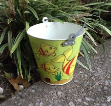 Vintage Sand Pail-Ohio Art-Fish Marine Theme- Bright and Excellent-60s Vintage