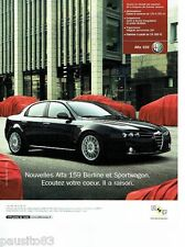 PUBLICITE ADVERTISING 116  2006  Alfa Romeo  Alfa 159 berline & sportwagon