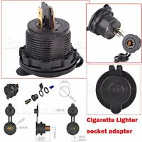 Cigarette Lighter Power Charger Adapter For Motorcycle DIN Hella BMW Socket GPS