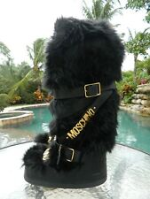 Authentic Moschino Runway Limited Edition Faux Fur Snow Boots Sz 38/40 EUC