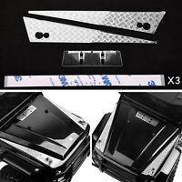 Edelstahl 3M Aufkleber Model Auto Hood für TRX-4 Benz G500 TRX-6 G63 RC Crawler