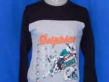vintage 90s MIAMI DOLPHINS FOOTBALL TACKLE LONG SLEEVE JERSEY t-shirt YOUTH M
