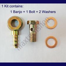 2 Washers Vibrant Performance 11534 11534-8AN Male Banjo Fitting 14mm x 1.5 Metric Aluminum