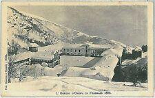 CARTOLINA d'Epoca BIELLA - Santuario di Oropa: NEVICATA 1888