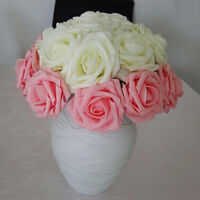EP_ 200PCS Foam Fake Rose Artificial Flower Wedding Bride Bouquet Party Decor So